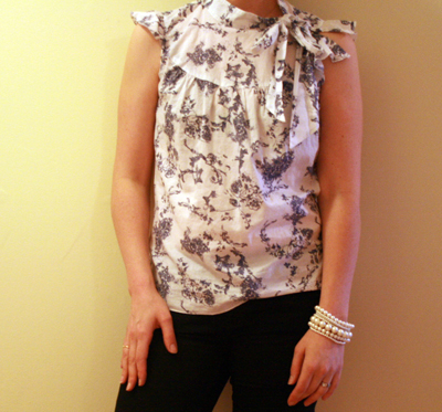 angry chicken: super easy blouse alteration