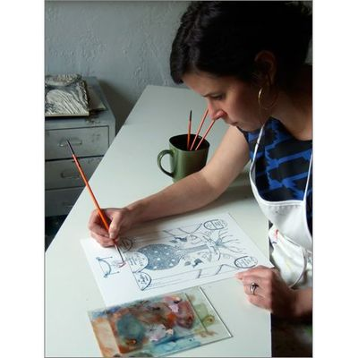 Christine Schmidt in her studio