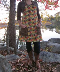 Madebyemily autumn leaves apron